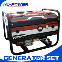 well selling 220 volt 3kw hand start air cooled gasoline generator set