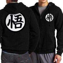Heiße Japanische Anime Dragon Ball Z Goku Hoodies Männer 2017 Frühling herbst Männer Jacekt Sweatshirts Fashion Zip Up Mantel Plus Größe S-4XL