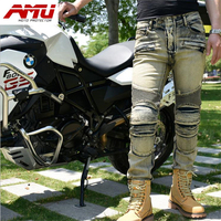 Authentic AMU fashion motorcycle riding jeans off road locomotive racing pants R6