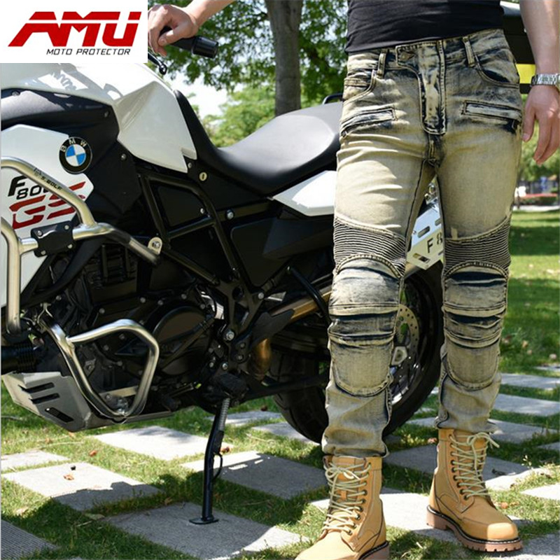 Authentic AMU fashion motorcycle riding jeans off-road locomotive racing pants R6 сосо amu 500