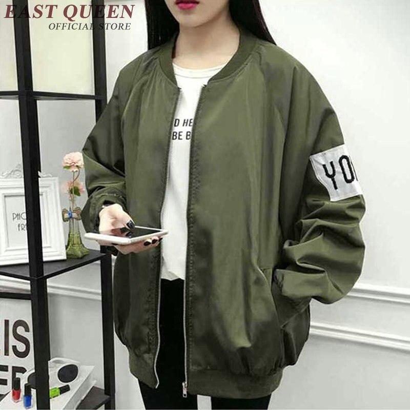 Nouveau automne veste femmes à manches longues blouson de mode hommes casual armée vert surdimensionné veste couples S-XXXXL AA2782 YQ
