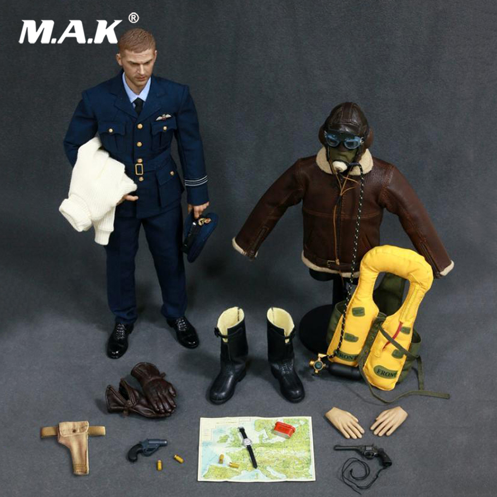 1:6 Scale Military Soldiers 1/6 Scale Alert Line AL100019 WWII Royal Air Force Pilot Figure Toy Collection full set figure toy 1 30 wwii german set temporary headquarters cheetah jeep 166 soldiers alloy construction fm