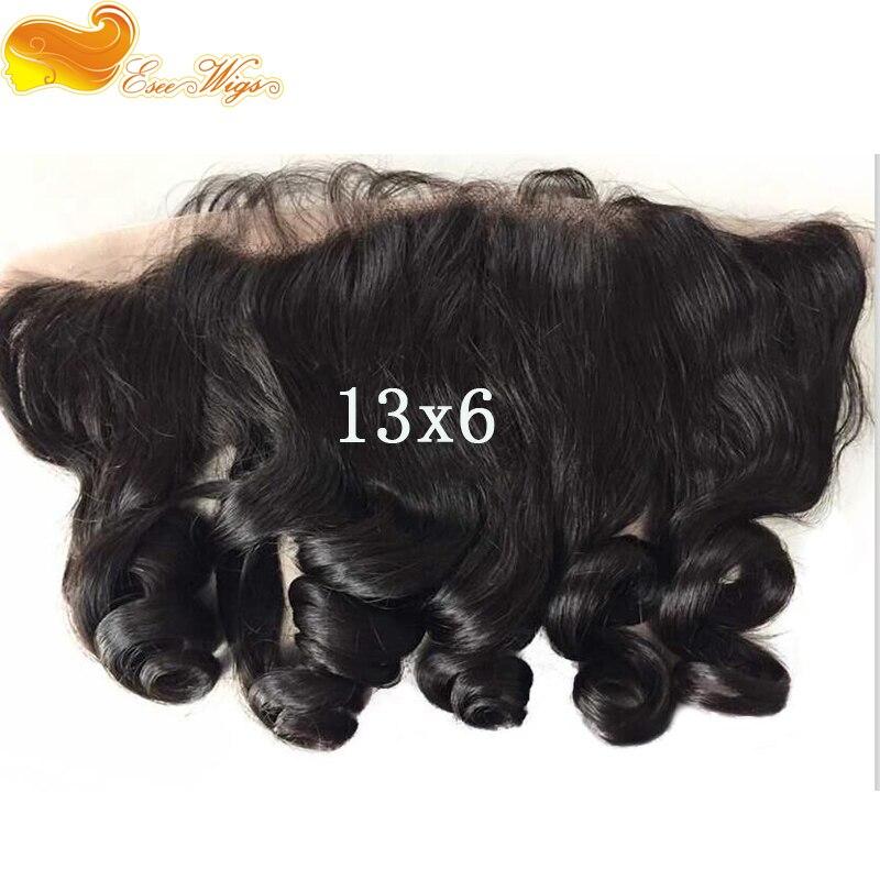 Eseewigs Oreille à Dentelle Frontale avec des Cheveux de Bébé 13X6 Vague Lâche Dentelle Frontale Pour Noir Femmes Pré pincées Péruvienne Remy Cheveux