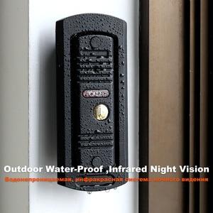 "Image 4 - HomeFong 4"" Video Door Intercom System Video Door Bell HD IR Night Vision Deurbel Met Camera With 32G card For Home Security Kit"