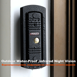 "Image 4 - HomeFong 4 ""جهاز اتصال داخلي مزود بفيديو للأبواب نظام فيديو باب الجرس HD الأشعة تحت الحمراء للرؤية الليلية Deurbel مع بطاقة 32G لأمن الوطن عدة"