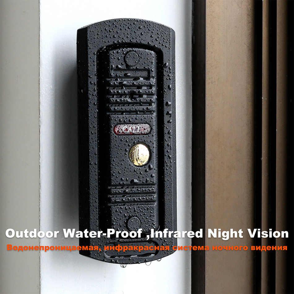 Homefong 1200TVL Wired Campanello di Chiamata Pannello per il Video Telefono Del Portello Del Citofono di Visione Notturna di IR di Sostegno Impermeabile Elettrico Blocco Sblocco