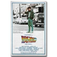 Back To The Future Car Classic Movie Art Seda Impresión Del Cartel Casa Decoración de La Pared