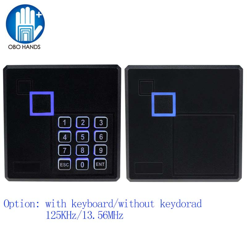Long Range RFID NFC Card Reader 13.56MHZ/125KHZ Proximity Card Access Control Reader Wiegand36 Output with keyboard security turnstile gate access control 1 meter mid range wiegand 34bits rfid card reader with 125khz low frequency