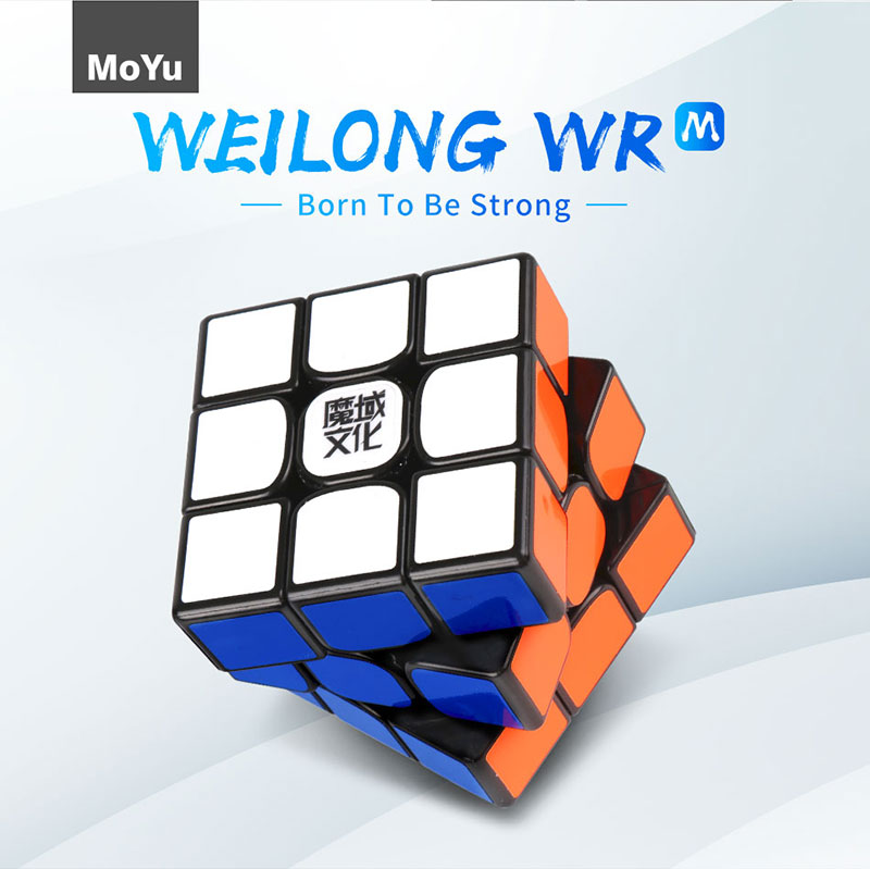 Original Moyu Weilong WR M 3x3x3 Magic Cube Professional WR M Magnetic Speed Cube 3x3 Magnets Cubo Magico WRM Educational Toys