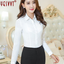 YESVVT autumn and winter  Women's shirts 2017 long sleeve blouses of large sizes OL ladies tops office blouse plus size 3xl 4xl