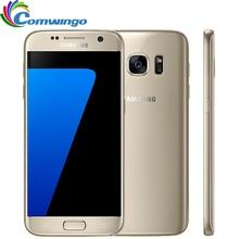 Оригинальный Samsung Galaxy S7 G930F 4 Г LTE Телефон 4 ГБ RAM 32 ГБ ROM Водонепроницаемый Смартфон 5.1 »12MP Quad Core NFC WI-FI Bluetooth GPS