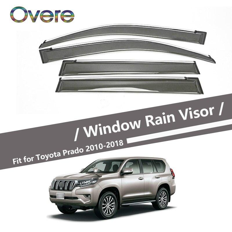 Car Window Visor Rain Guard Cover For Toyota Land Cruiser Prado J150 2010-2013