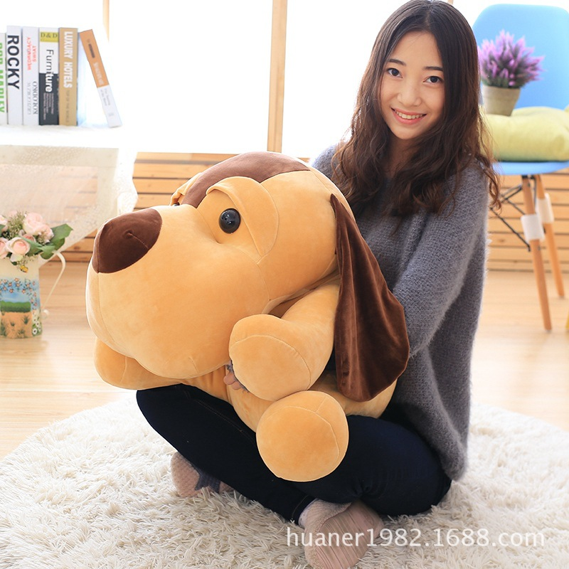 65cm Lovely lap dog plush toys Doll pillow big dog birthday gift cute labrador big plush toy lying dog doll search and rescue stuffed toys children birthday gift pillow