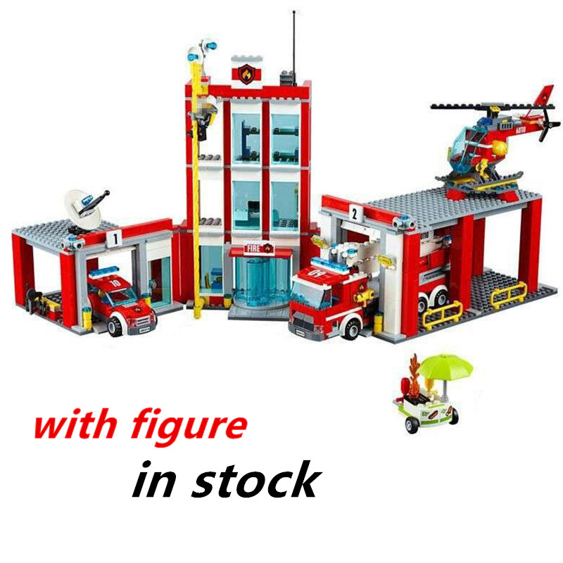 copmatible legoing fire station 60110 legoing pompier 60110 lepin Fire Station lepin pompier 02052 city series building block new lepin 02052 genuine city series 1029pcs the fire station set 60110 building blocks bricks funny kid s toys as chritmas gifts