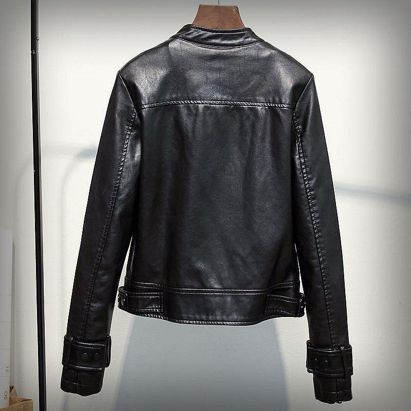 Femmes Base Moto 2 Cuir Punk Printemps New Veste 1 Vestes Vintage Faux De En Ftlzz Court Fermeture Biker Noir Éclair Design UdRwEd