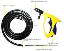 LEMATEC Abrasive Air Blasting Gun With Hose Pneumatic Sandblaster Basting Cleaning Tool Taiwan Made Ergonomics Power