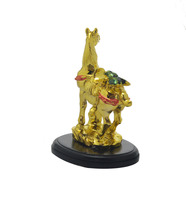 Feng Shui Mini Gold Horse Statue Decor for Home and Office