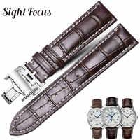 Bracelet de montre en cuir de vachette pour Longines Masters Collection montre bracelet ceintures Bracelets cuir de vachette 14 15 18 19 20 21 22mm bracelet hommes