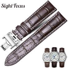 Bracelet de montre en cuir de veau pour Longines Masters Collection Bracelet de montre Bracelet de ceinture en cuir de vachette 13 14 15 18 19 20 21 22 24mm Bracelet