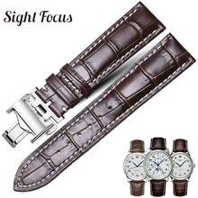 Kalbsleder Uhr Band für Longines Masters Sammlung Uhr Strap Gürtel Armband Rindsleder 13 14 15 18 19 20 21 22 24mm Strap