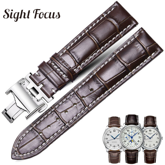 Calfskin Watch Band for Longines Masters Collection Watch Strap Belts Bracelets