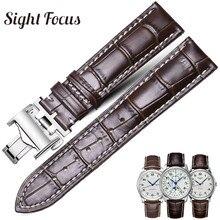 עגל צפו בנד עבור Longines מאסטרס אוסף שעון רצועת חגורה צמיד עור פרה עור 13 14 15 18 19 20 21 22 24mm רצועה