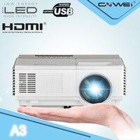 CAIWEI A3 дополнительно мини проектор светодиодный ATV фильм Бимер 1500 люмен Портативный ЖК дисплей дома Театр Proyector 1080 P полный HD