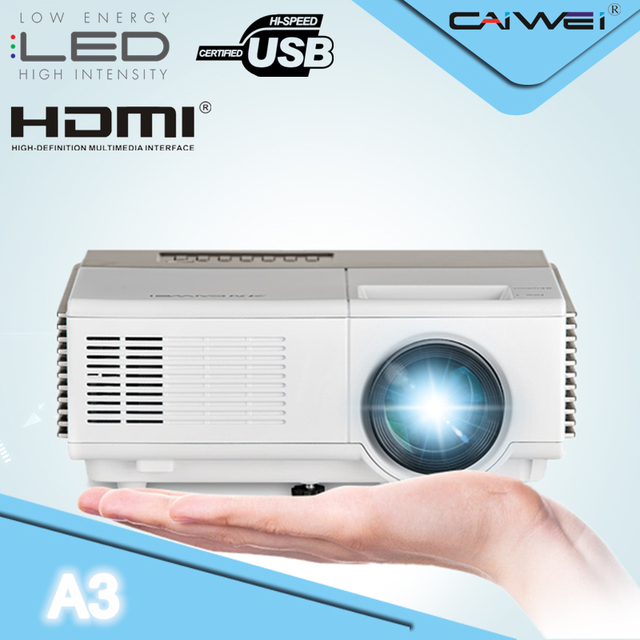 Best Offers CAIWEI A3 Optional Mini Projector LED ATV Movie Beamer 1500 Lumen Portable LCD Home Theater Beamer Proyector 1080p Full HD