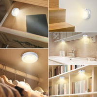 Night Timing Party Cupboard Neutral Puck Lamp Dimmable Kitchen Under Cabinet Lights Indoor Atmosphere Eye Protection Led