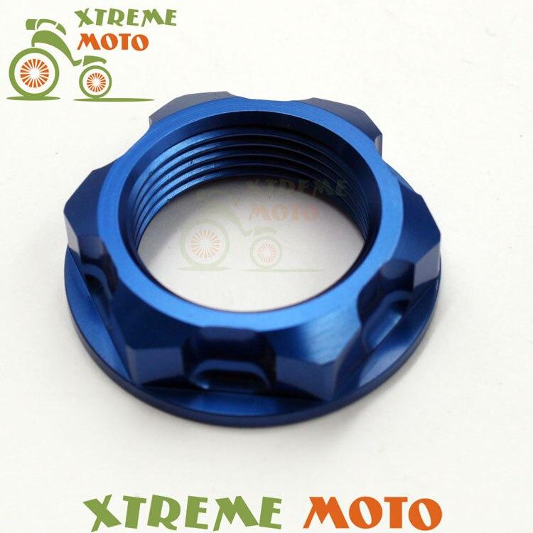 CNC Billet Steering Stem Nut For Yamaha YZ125 250 250F 450F 400 426F 250X 250FX WR250F 450F Motocross Supermoto Enduro Dirt Bike