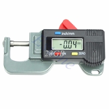 Digital Thickness Gauge Meter Tester Micrometer 0 to 12.7mm M10