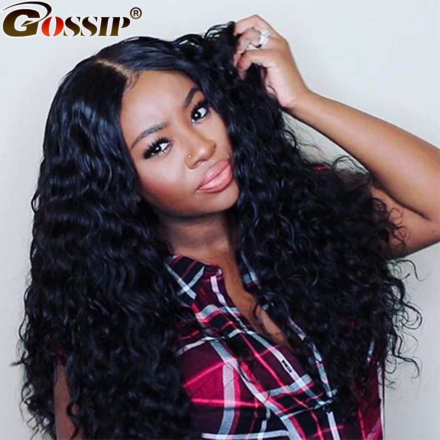 Brazilian Remy Hair Water Wave Full Lace Human Hair Wigs For Black Women Gossip Glueless Full