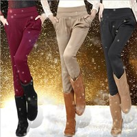 New 2013 Harem Pants Women Winter Pants Plus Thick Velvet Was Thin Trousers Plus Size Free