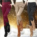 Novo 2016 harem pants mulheres calças de inverno Mais grossa de veludo Era calças finas plus size Frete grátis