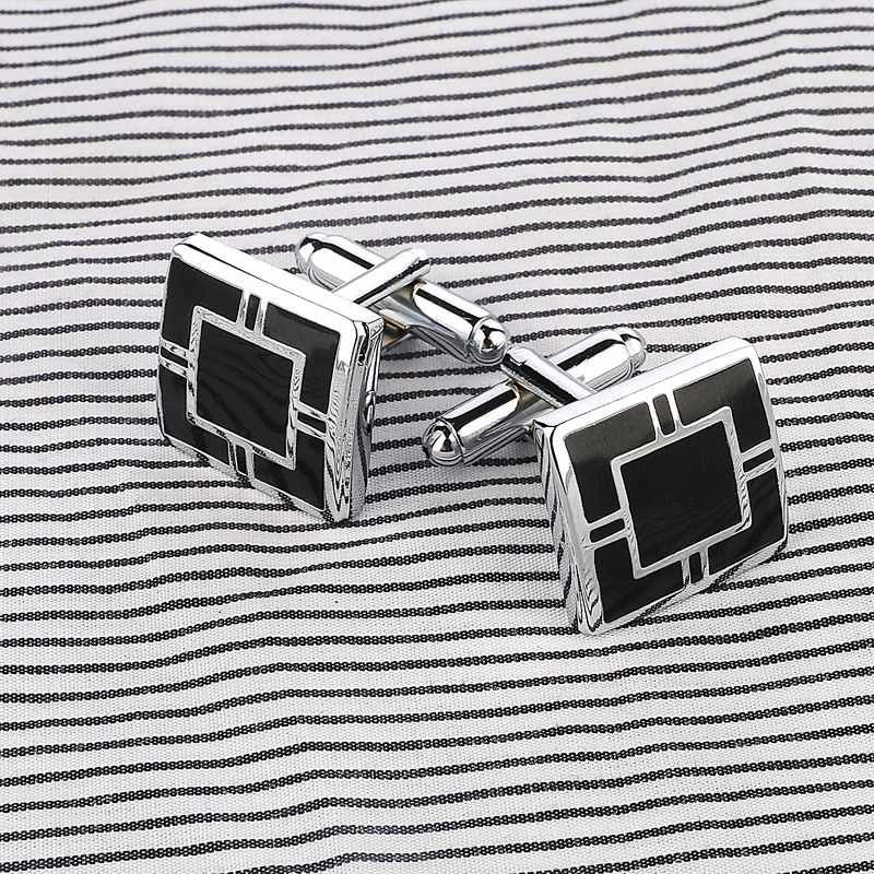 Vintage Square Buttons Pattern Cufflinks for Mens Special Jewelry Shirt Cufflinks for French Man