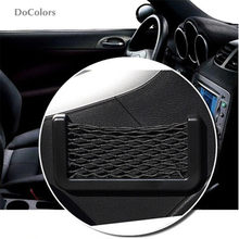 DoColors Car Storage Organizer Net Bag Case For Subaru Forester Outback Legacy Impreza XV BRZ(China)