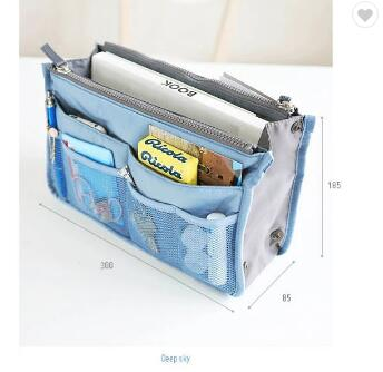 Multi-Pocket Colorful Travel Insert Makeup Organizer Bag