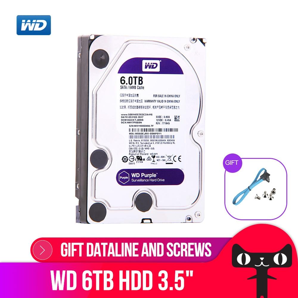 WD Viola 6 TB Sorveglianza HDD Hard Disk Drive SATA 6.0 Gb/s 3.5