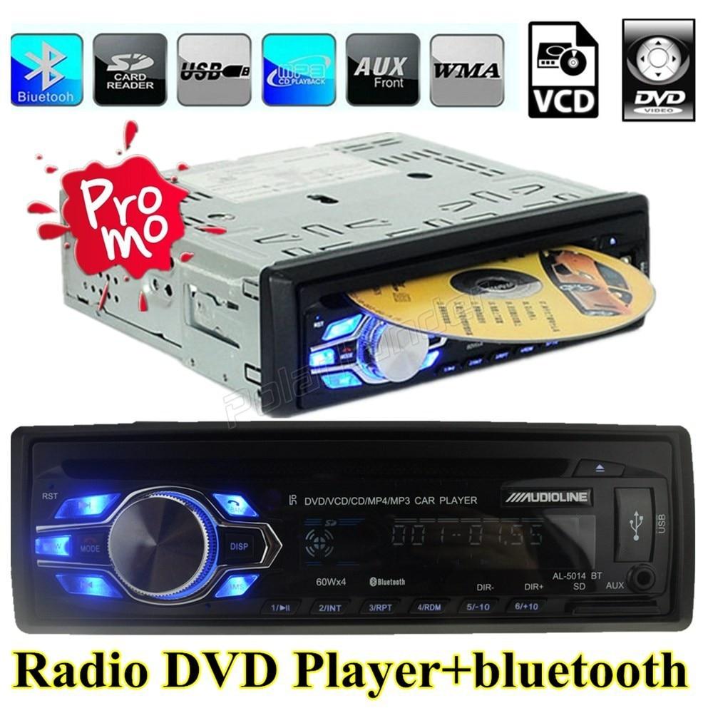Поступление сезона 2015 г. Автоматический Автомобиль Радио Bluetooth MP3 плеер 12 В аудио handfree usb mp3 DVD/VCD/CD/FM/ радио 5 В зарядное устройство мобильного т…