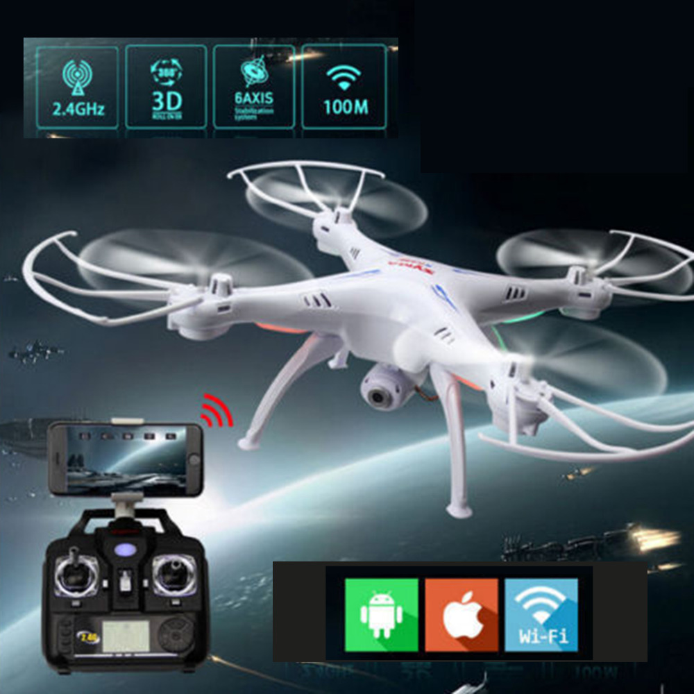 Original WIFI FPV Real Time 2.4G 6-Axis Syma X5 X5SW RC Drone Helicoptor Quadcopter with HD Camera Extra Battery Free Shipping rc drone quadcopter x6sw with hd camera 6 axis wifi real time helicopter quad copter toys flying dron vs syma x5sw x705