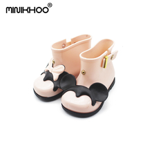 Mini Melissa Rain Boots 2018 New Anti-Skid Jelly Boys Girls Mickey Shoes Baby Water