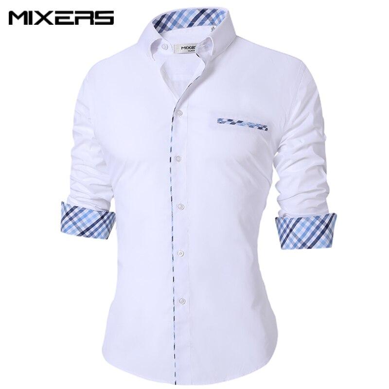 2018 nueva delgada de verano casuales de los hombres de Camisa de algodón Casual Camisa de manga larga de gran tamaño transpirable vestido de oficina camisetas de los hombres