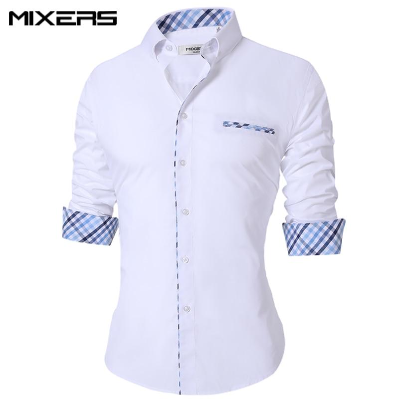 Men's Casual Shirt Regular Fit Casual Shirt Men Long Sleeve Big Size Breathable Office Dress Shirts Men