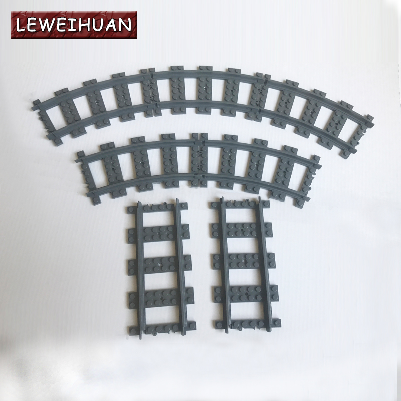 Flexible Curved and Straight forked Rail Tracks for Train Soft Railway Building Block Sets Models Kids Educational Toys Gifts