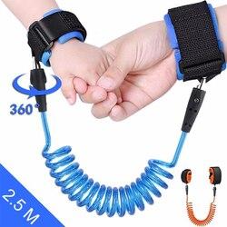 Correia de mão de caminhada ao ar livre anti-lost pulseira crianças anti perdido correia de segurança da criança da ligação do pulso para a corda do bebê