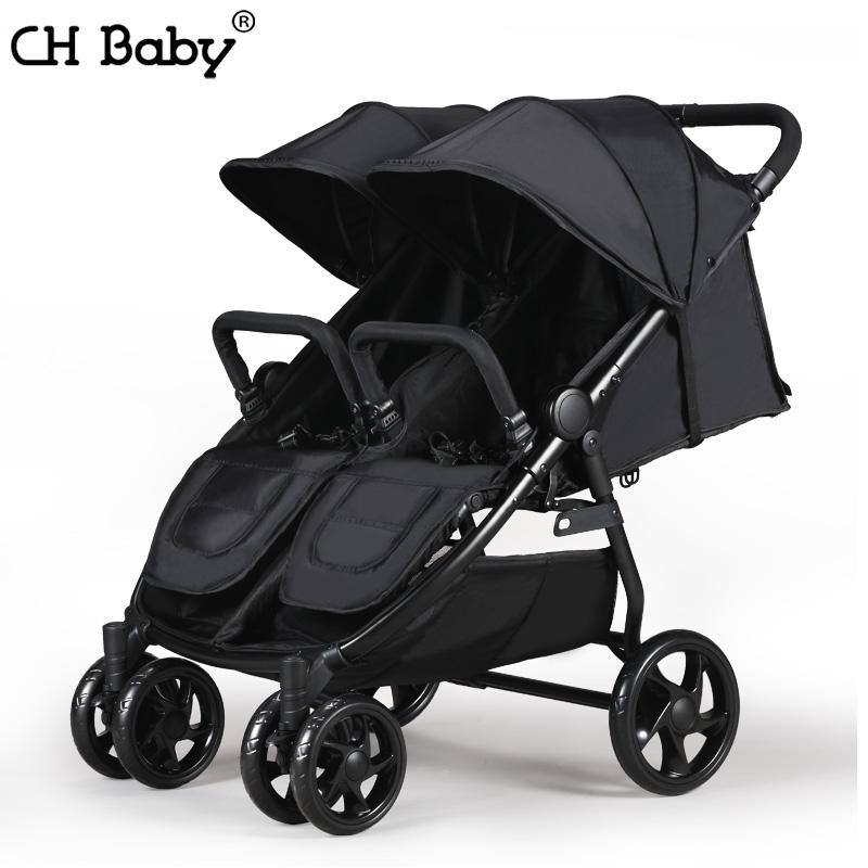 CHBABY High Landscape Twin Baby Stroller newborn travel trolley folding baby stroller Four Wheel Shock Absorbers can separate