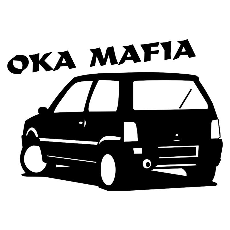 CS-200#14*20cm oka mafia funny car sticker and decal silver/black vinyl auto stickers