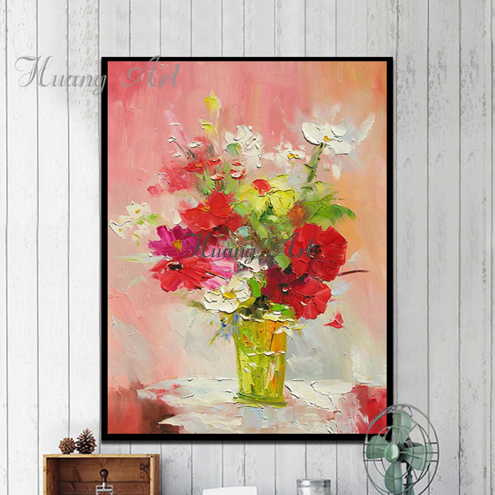 Pure Hand Painted Oil Painting Flower Decoration Impressionist Small