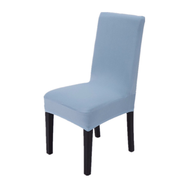 Baby Blue Chair Covers Office Australia Polyester Spandex Stretch Dining Short Restaurant For Wedding Party Home Textile V30