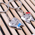 4 X Auto Metal Teeth Cute Cartoon Couple  Key Ring Keychain Car Creative Couple Keychains  Valentine's Love Pendant